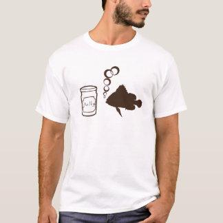Camiseta o frasco da geléia e dos peixes faz medusas