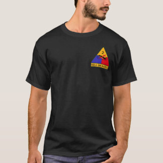 """Camiseta ò FÚRIA nas rodas da divisão blindada """"inferno"""""""