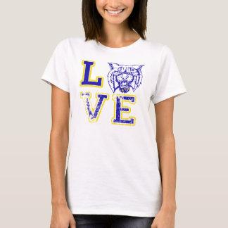 Camiseta O futebol desorganizado do amor ostenta o tanque
