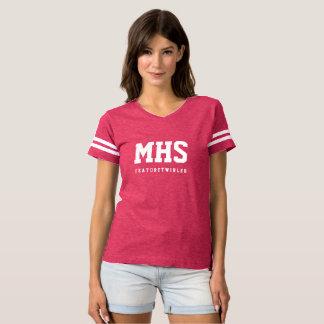 Camiseta O futebol do Twirler da característica inspirou a