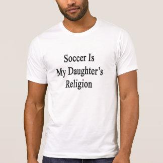 Camiseta O futebol é a religião da minha filha