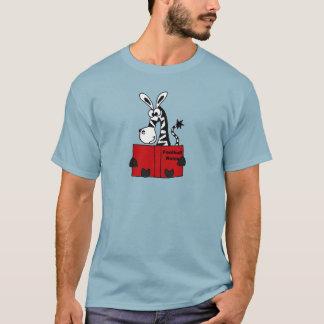Camiseta O futebol engraçado da leitura da zebra ordena o