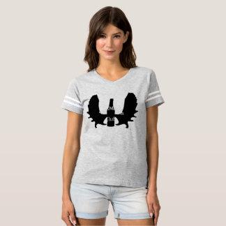 Camiseta O futebol T da mulher do clube de BullMoose