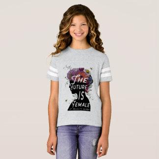Camiseta O futuro é fêmea - juventude do t-shirt do futebol