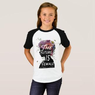 Camiseta O futuro é fêmea - t-shirt curto da luva da