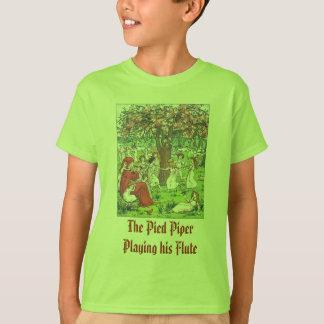 Camiseta O gaiteiro Pied que joga sua flauta