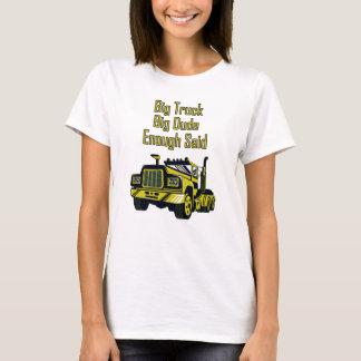 Camiseta O gajo grande do caminhão grande bastante disse