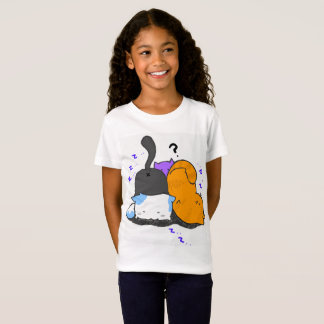 Camiseta O gatinho bonito caçoa o t-shirt