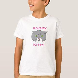 Camiseta O gatinho irritado caçoa o t-shirt
