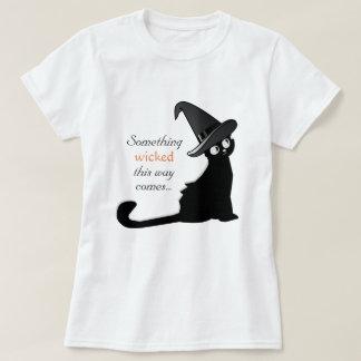 Camiseta O gato da bruxa algo mau esta maneira vem t-shirt