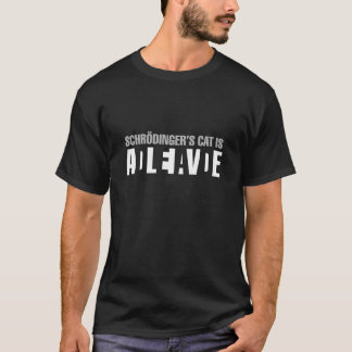 Camiseta O gato de Schrodinger com parte traseira