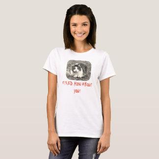 Camiseta O gato louco das mulheres FIXADO como sobre você