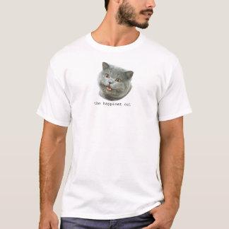 Camiseta o gato o mais feliz