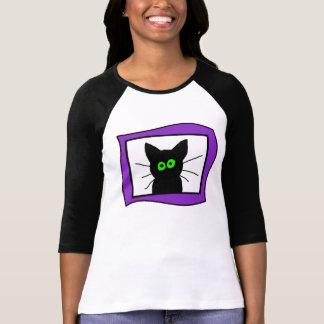 Camiseta O gato preto