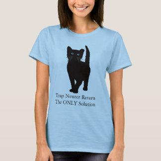Camiseta O gato preto, prende o retorno do neutro a ÚNICA