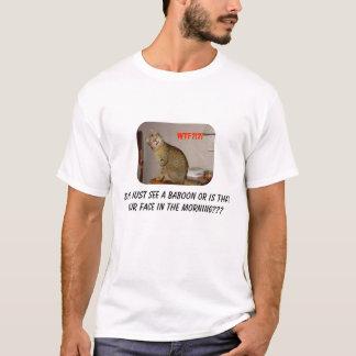 Camiseta O gato viu um babuíno???