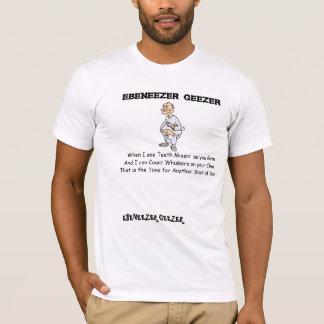 Camiseta O Geezer de Ebeneezer criou um poema para sua