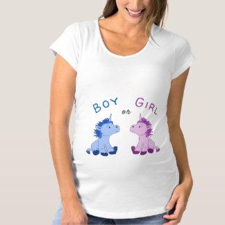 Camiseta O género do menino ou da menina do unicórnio