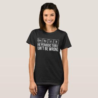 Camiseta O gênio o Cant da mesa periódica seja homens