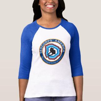 Camiseta O GeoCorps América das mulheres 3/4 de t-shirt da