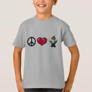Camiseta O gnomo do coração da paz por FreeWitch caçoa o