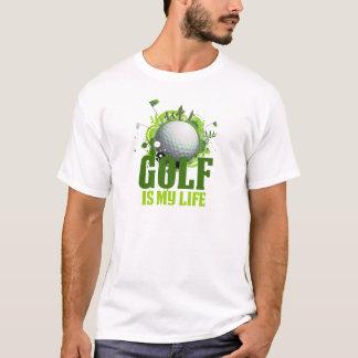 Camiseta O golfe é meu t-shirt básico da vida, branco