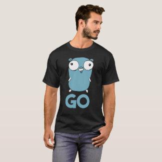 Camiseta O Gopher de Golang VAI t-shirt Lang que programa