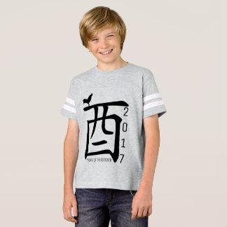 Camiseta O gráfico customizável 6 do ano 2017 do galo caçoa