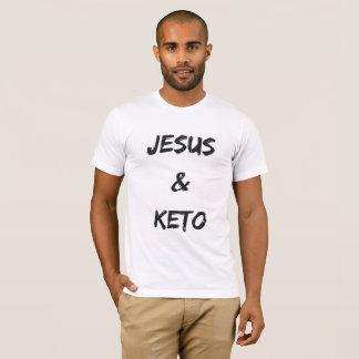 Camiseta O gráfico T dos homens de Jesus e de Keto