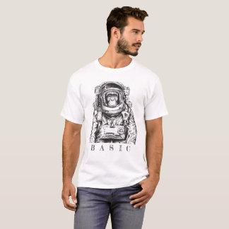 Camiseta O gráfico T dos homens do macaco do BASIC