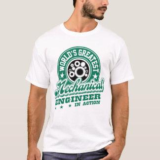 Camiseta O grande engenheiro mecânico do mundo na ação