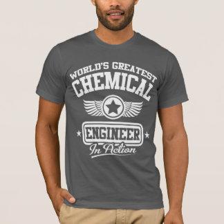 Camiseta O grande engenheiro químico do mundo na ação