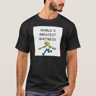 Camiseta o grande garçonete do mundo