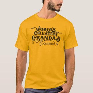 Camiseta O grande grandad do mundo garantido