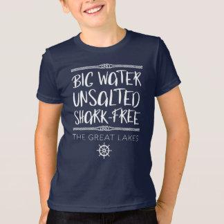 Camiseta O grande lago: Grande, Unsalted, Tubarão-livre
