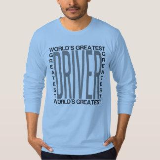 Camiseta O grande motorista dos mundos