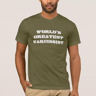 Camiseta O grande Narcissist do mundo