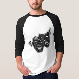 Camiseta O grande preto mascara o t-shirt do Raglan