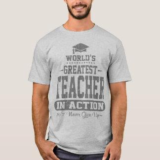 Camiseta O grande professor do mundo na ação