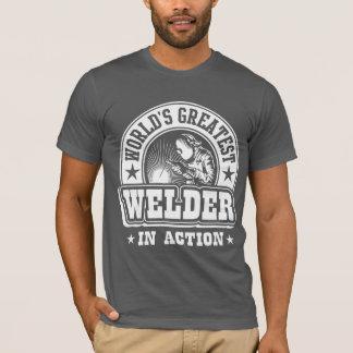 Camiseta O grande soldador do mundo na ação