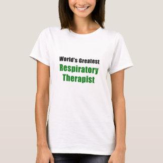 Camiseta O grande terapeuta respiratório dos mundos