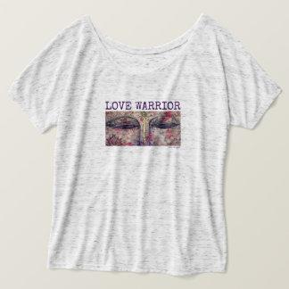 Camiseta O guerreiro Buddha do amor Eyes o t-shirt do Flowy