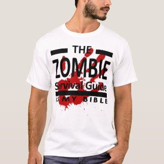 Camiseta O guia de sobrevivência do zombi é minha bíblia