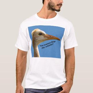 """Camiseta O guindaste """"ouve-me assobiar"""" o t-shirt"""
