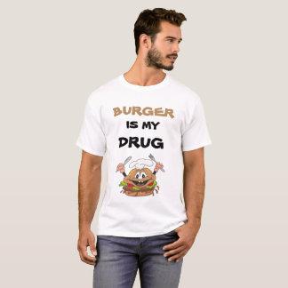 """Camiseta O """"hamburguer é t-shirt customizável da minha"""