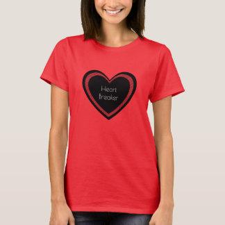 Camiseta O Heartbreaker vermelho e enegrece o t-shirt das