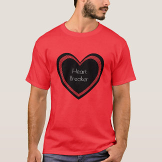 Camiseta O Heartbreaker vermelho e enegrece o t-shirt dos