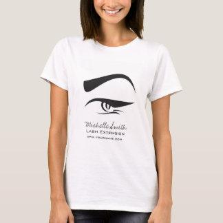 Camiseta O henna preto da extensão do chicote do Eyeliner