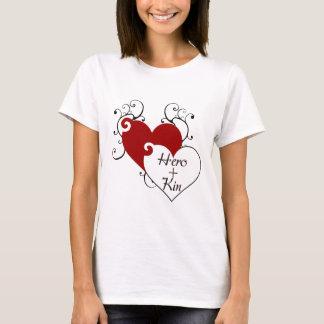 Camiseta O herói mais o coração dos parentes roda série