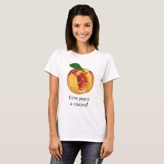 Camiseta O hipster dá a pêssego uma chalaça da
